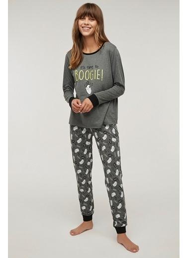 Penti Boogie Pijama Takımı Gri